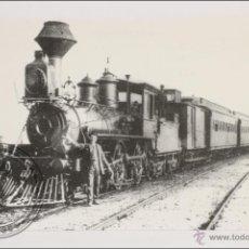 Postales: POSTAL EDITREN VAPOR EN NEGRO Nº 175 - TREN DE VIAJEROS ESTACIONADO EN BLANES, AÑO 1900. Lote 148872781