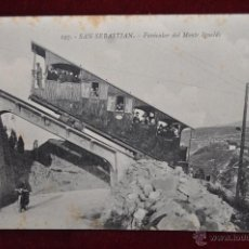 Postales: ANTIGUA POSTAL DE SAN SEBASTIAN. FUNICULAR DEL MONTE IGUELDO. SIN CIRCULAR. Lote 43213735