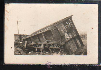 TARJETA POSTAL FOTOGRAFICA DE ACCIDENTE DEL CENTRAL ALTO CERRO. (Postales - Postales Temáticas - Trenes y Tranvías)