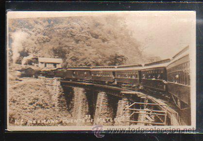 TARJETA POSTAL FOTOGRAFICA DE FERROCARRIL MEXICANO. PUENTE DE METLAC. 33 (Postales - Postales Temáticas - Trenes y Tranvías)