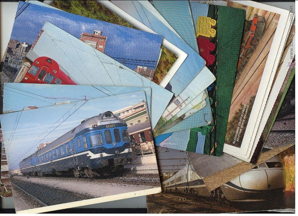 Postales: 87 POSTALES FERROCARRILES. AÑOS 60-70. LA MAYORIA SIN CIRCULAR - Foto 3 - 43392452