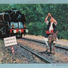 Postales: 0942 LOCOMOTORA ZARAGOZA CHUFLA CHUFLA EDICIÓN C. JOSAN ESCRITA EL AÑO 1970. Lote 43698755