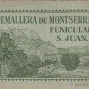 Postales: TREN CREMALLERA DE MONTSERRAT FUNICULAR DE SAN JUAN 12 FOTOS DE ZERKOWITZ GRAN FORMATO. Lote 44435481