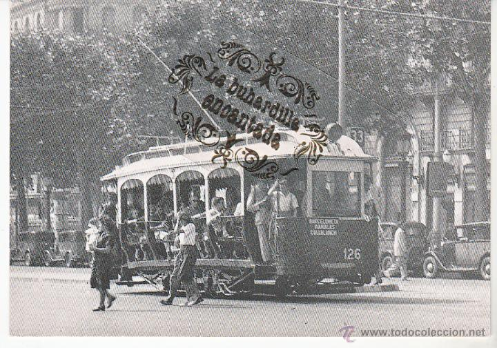POSTAL - TRANVIA DE BARCELONA - COCHE 126 - 31-07-1949 - EUROFER - Nº 4038 (Postales - Postales Temáticas - Trenes y Tranvías)