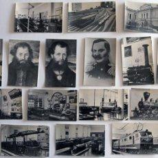 Postales: SET DE 16 FOTOS MUSEO DEL TREN LENINGRADO RUSIA 1967. Lote 44985222