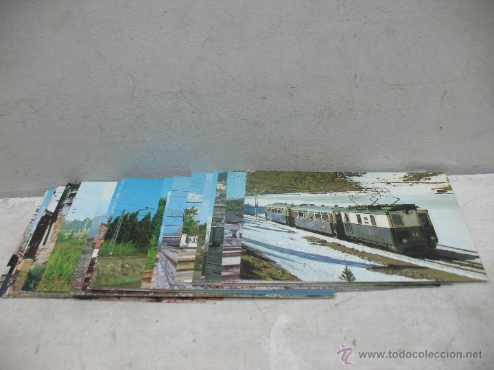LOTE DE 25 POSTALES FERROVIARIAS DE LOCOMOTORAS (Postales - Postales Temáticas - Trenes y Tranvías)