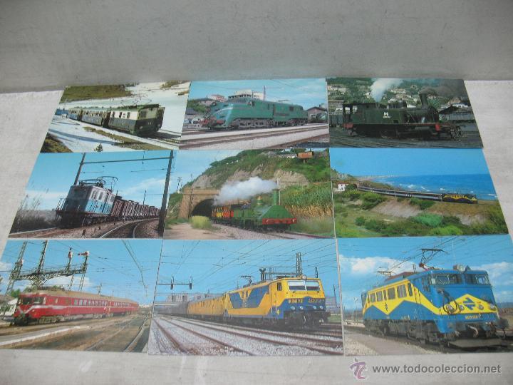 Postales: Lote de 25 postales ferroviarias de locomotoras - Foto 2 - 45271965