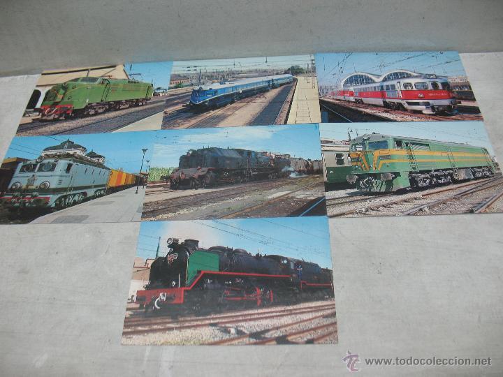 Postales: Lote de 25 postales ferroviarias de locomotoras - Foto 12 - 45271965