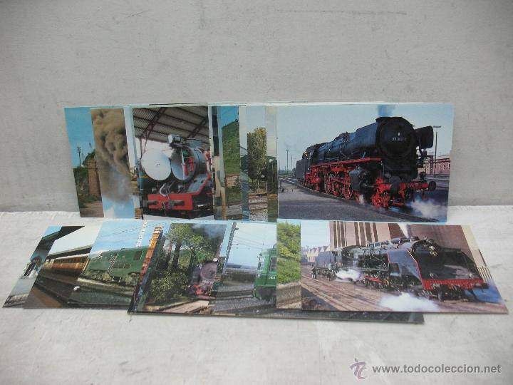 LOTE DE 30 POSTALES FERROVIARIAS DE LOCOMOTORAS VAGONES TRANVÍAS (Postales - Postales Temáticas - Trenes y Tranvías)