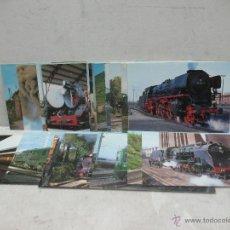 Postales: LOTE DE 30 POSTALES FERROVIARIAS DE LOCOMOTORAS VAGONES TRANVÍAS. Lote 45272686