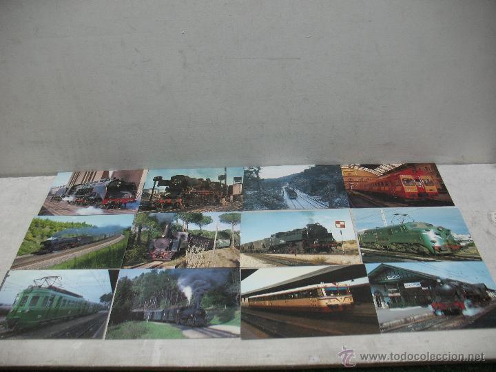 Postales: Lote de 30 postales ferroviarias de locomotoras vagones tranvías - Foto 2 - 45272686