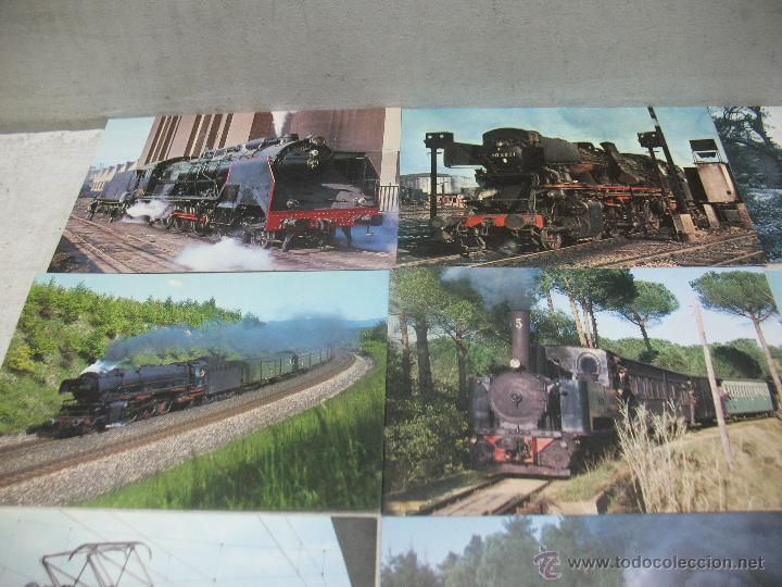 Postales: Lote de 30 postales ferroviarias de locomotoras vagones tranvías - Foto 3 - 45272686
