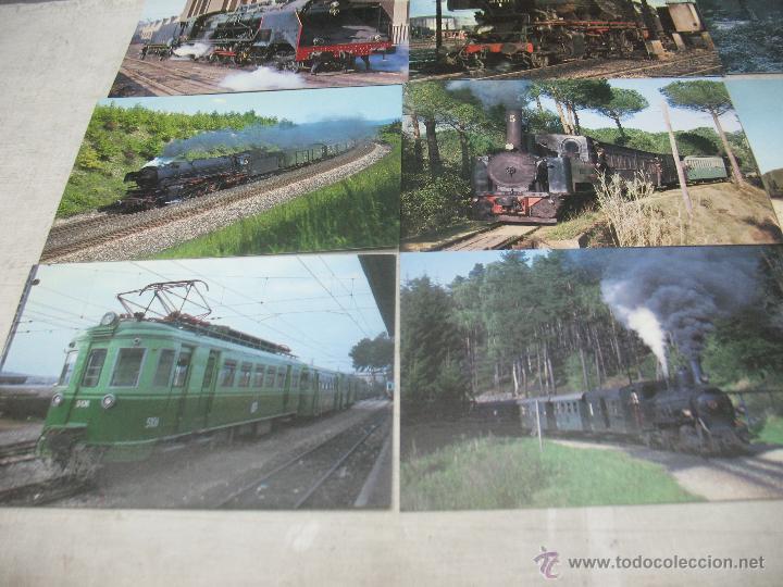 Postales: Lote de 30 postales ferroviarias de locomotoras vagones tranvías - Foto 4 - 45272686
