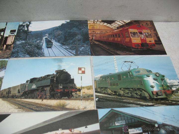 Postales: Lote de 30 postales ferroviarias de locomotoras vagones tranvías - Foto 5 - 45272686