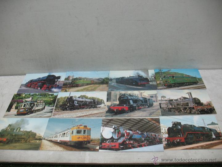 Postales: Lote de 30 postales ferroviarias de locomotoras vagones tranvías - Foto 7 - 45272686
