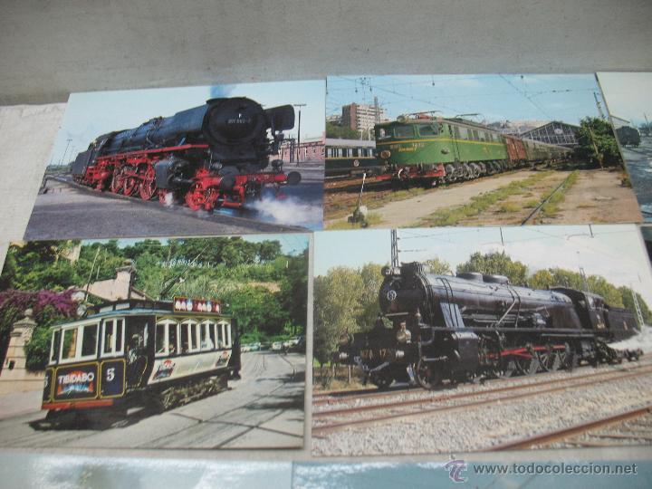 Postales: Lote de 30 postales ferroviarias de locomotoras vagones tranvías - Foto 8 - 45272686