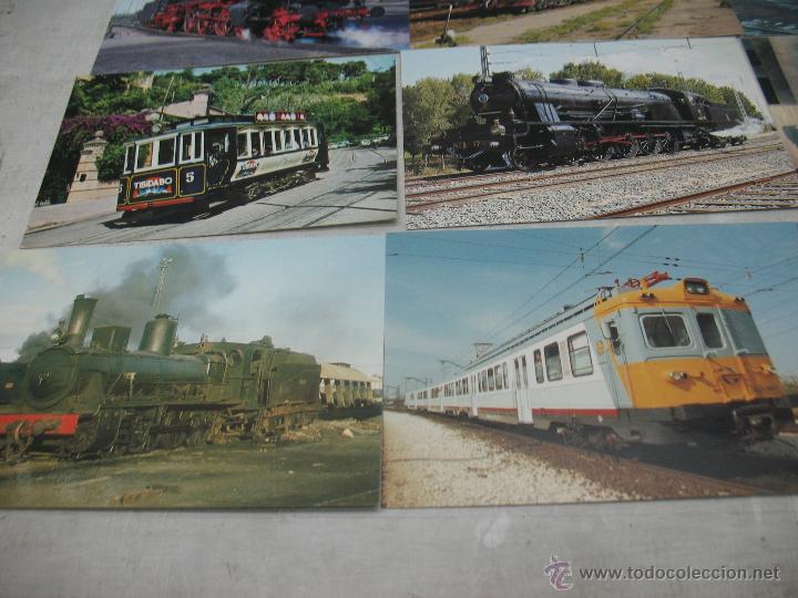 Postales: Lote de 30 postales ferroviarias de locomotoras vagones tranvías - Foto 9 - 45272686