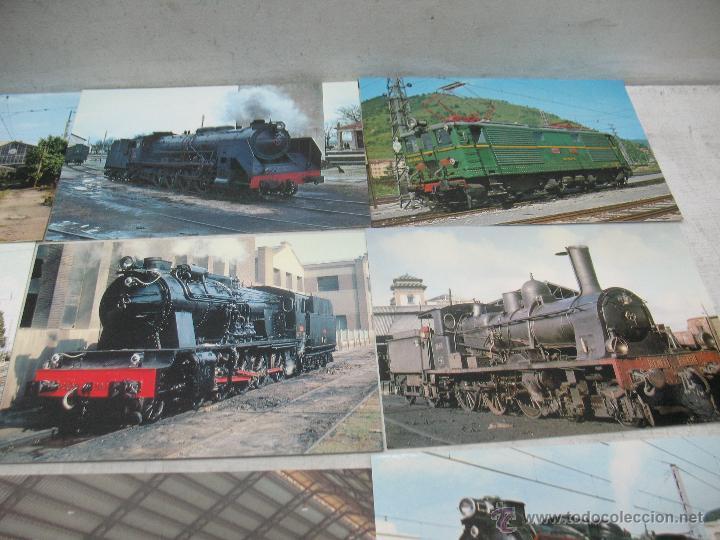 Postales: Lote de 30 postales ferroviarias de locomotoras vagones tranvías - Foto 10 - 45272686