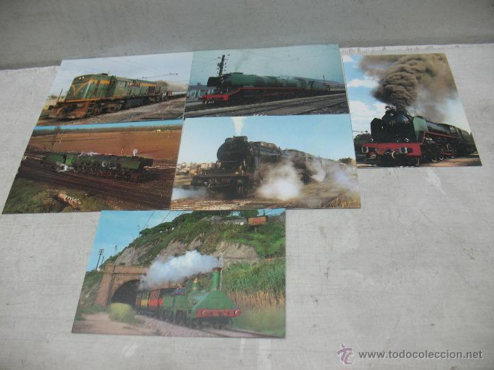 Postales: Lote de 30 postales ferroviarias de locomotoras vagones tranvías - Foto 12 - 45272686