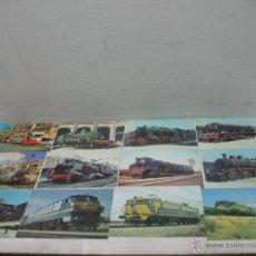 Postales: LOTE DE 30 POSTALES FERROVIARIAS DE LOCOMOTORAS VAGONES TRANVÍAS. Lote 45273059