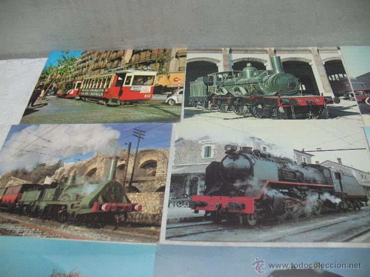 Postales: Lote de 30 postales ferroviarias de locomotoras vagones tranvías - Foto 2 - 45273059