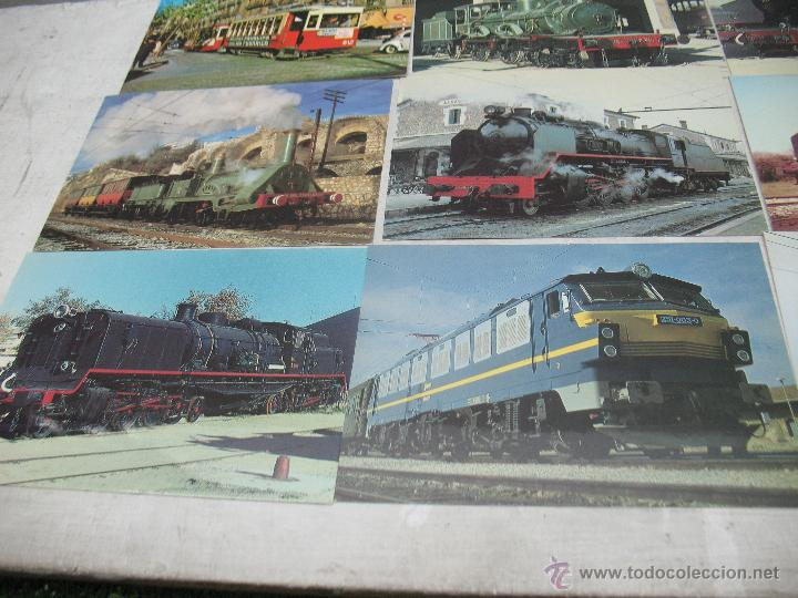Postales: Lote de 30 postales ferroviarias de locomotoras vagones tranvías - Foto 3 - 45273059