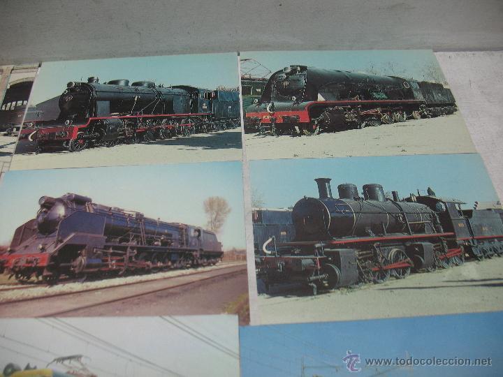 Postales: Lote de 30 postales ferroviarias de locomotoras vagones tranvías - Foto 4 - 45273059