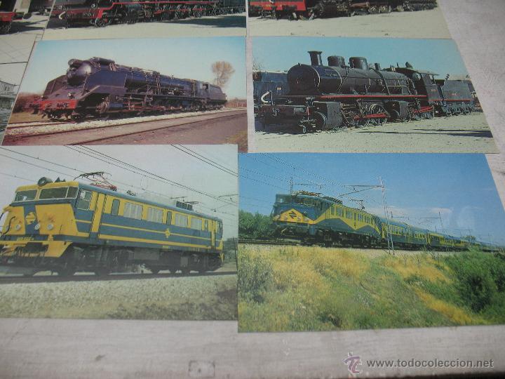 Postales: Lote de 30 postales ferroviarias de locomotoras vagones tranvías - Foto 5 - 45273059
