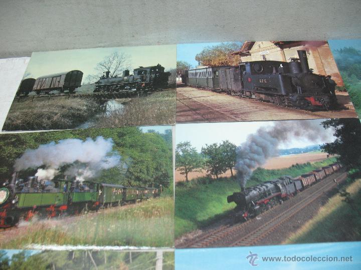 Postales: Lote de 30 postales ferroviarias de locomotoras vagones tranvías - Foto 7 - 45273059
