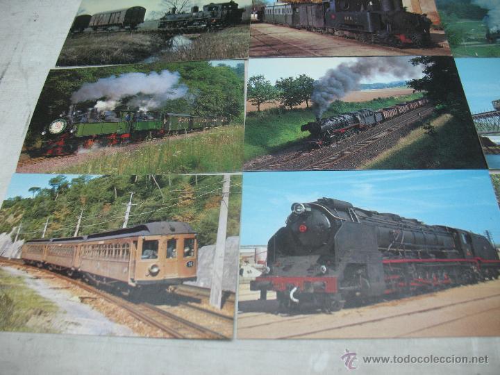 Postales: Lote de 30 postales ferroviarias de locomotoras vagones tranvías - Foto 8 - 45273059
