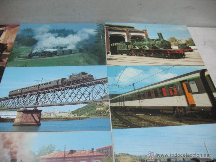 Postales: Lote de 30 postales ferroviarias de locomotoras vagones tranvías - Foto 9 - 45273059