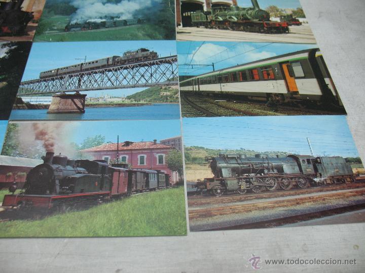 Postales: Lote de 30 postales ferroviarias de locomotoras vagones tranvías - Foto 10 - 45273059