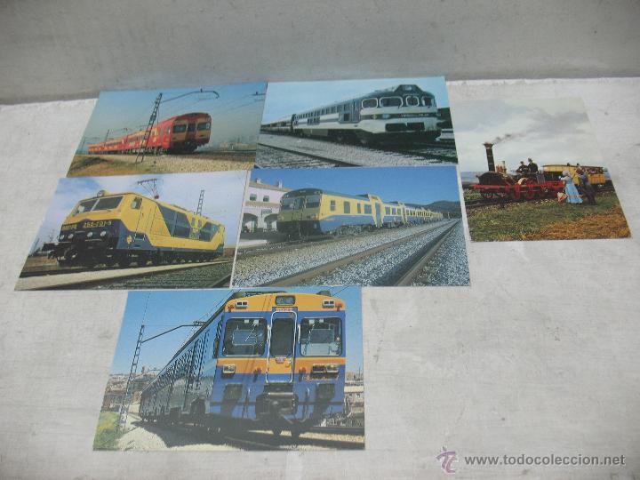 Postales: Lote de 30 postales ferroviarias de locomotoras vagones tranvías - Foto 11 - 45273059