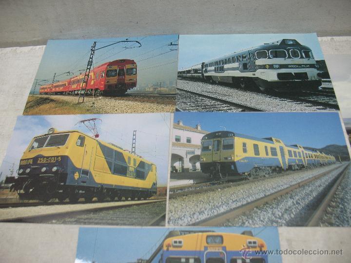 Postales: Lote de 30 postales ferroviarias de locomotoras vagones tranvías - Foto 12 - 45273059