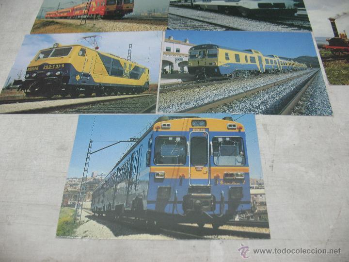 Postales: Lote de 30 postales ferroviarias de locomotoras vagones tranvías - Foto 13 - 45273059
