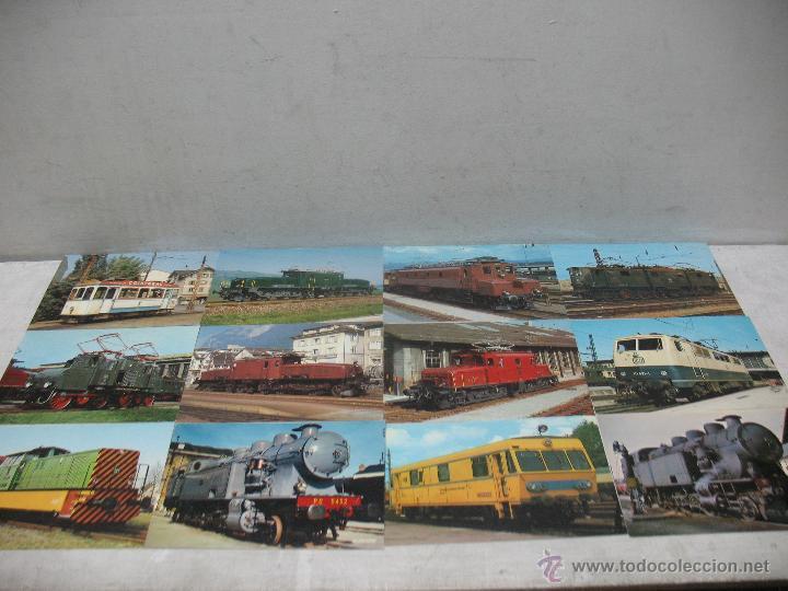LOTE DE 35 POSTALES FERROVIARIAS DE LOCOMOTORAS VAGONES TRANVÍAS (Postales - Postales Temáticas - Trenes y Tranvías)