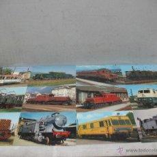Postales: LOTE DE 35 POSTALES FERROVIARIAS DE LOCOMOTORAS VAGONES TRANVÍAS. Lote 45273649