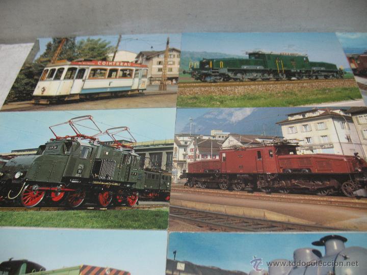 Postales: Lote de 35 postales ferroviarias de locomotoras vagones tranvías - Foto 2 - 45273649