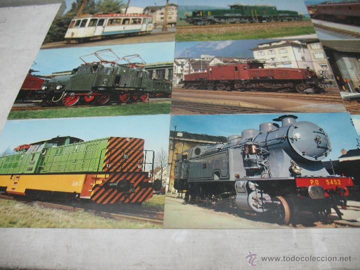 Postales: Lote de 35 postales ferroviarias de locomotoras vagones tranvías - Foto 3 - 45273649