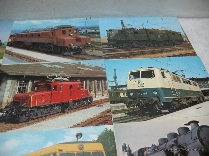 Postales: Lote de 35 postales ferroviarias de locomotoras vagones tranvías - Foto 4 - 45273649