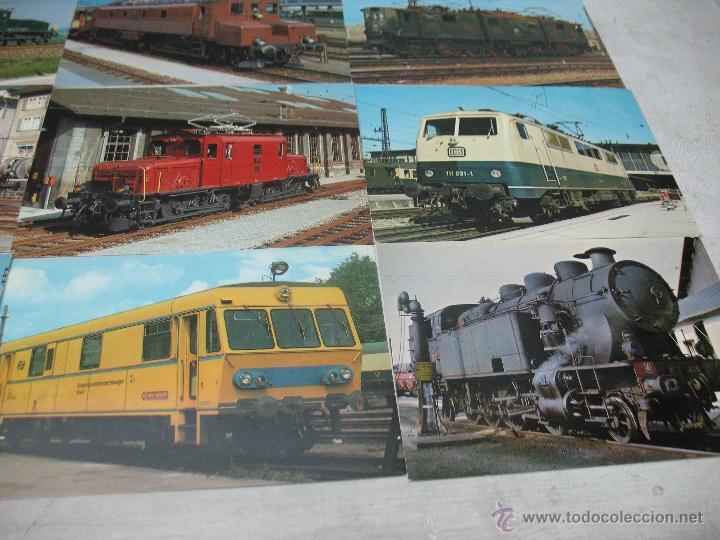 Postales: Lote de 35 postales ferroviarias de locomotoras vagones tranvías - Foto 5 - 45273649