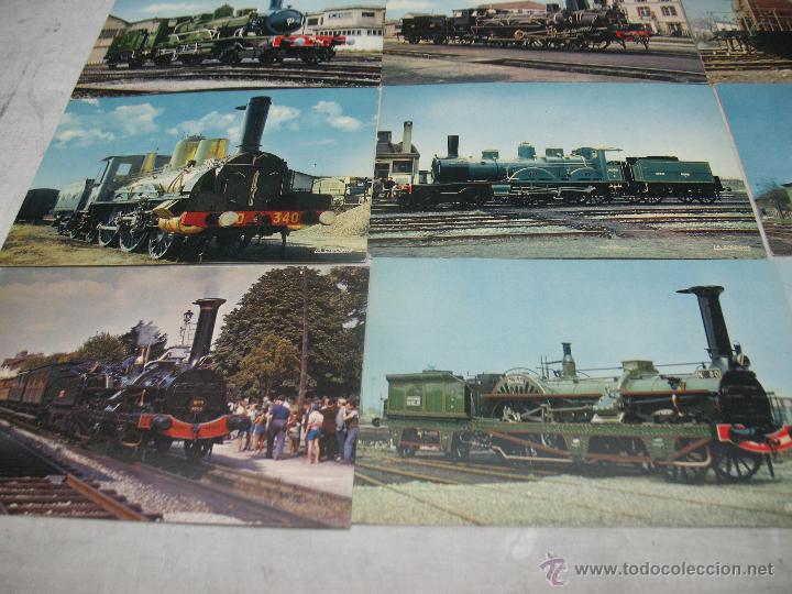 Postales: Lote de 35 postales ferroviarias de locomotoras vagones tranvías - Foto 8 - 45273649