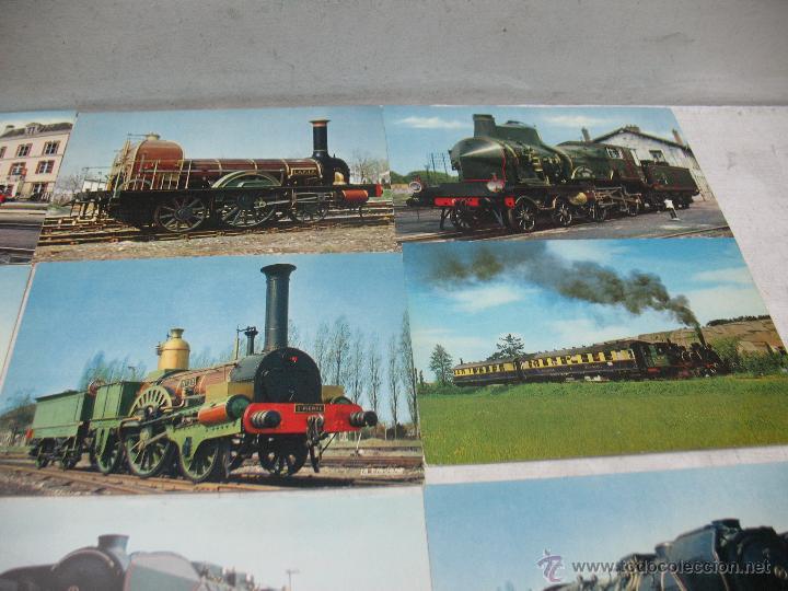 Postales: Lote de 35 postales ferroviarias de locomotoras vagones tranvías - Foto 9 - 45273649