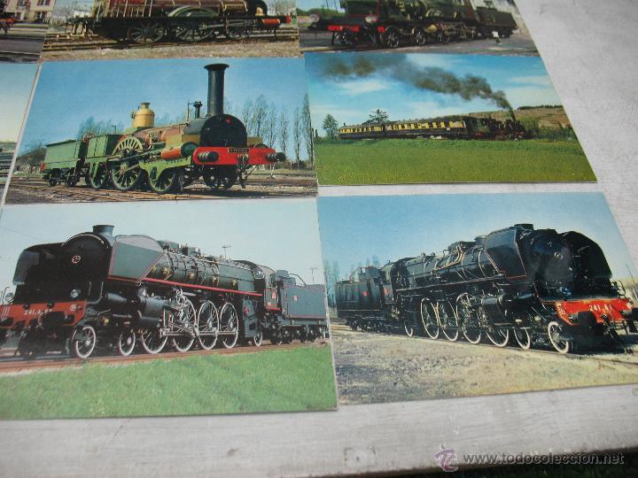 Postales: Lote de 35 postales ferroviarias de locomotoras vagones tranvías - Foto 10 - 45273649