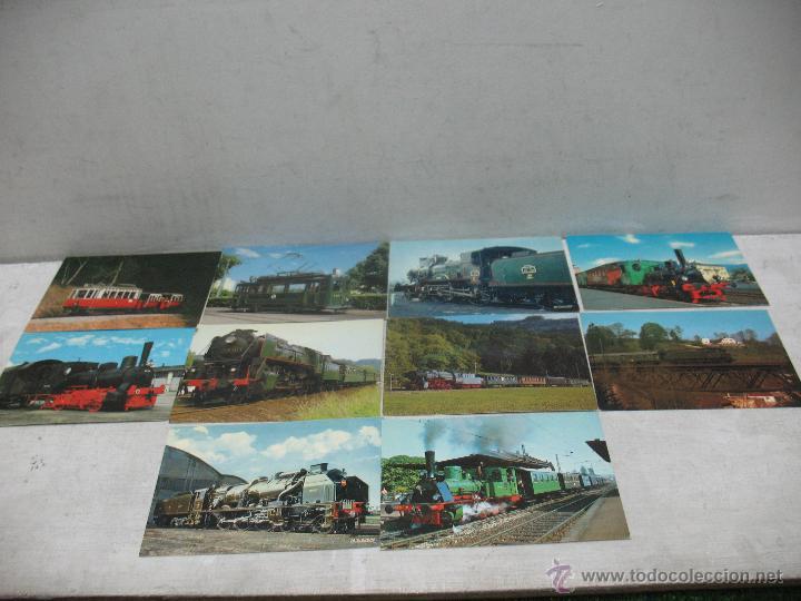 Postales: Lote de 35 postales ferroviarias de locomotoras vagones tranvías - Foto 11 - 45273649