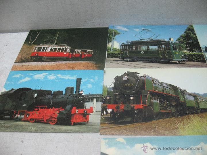Postales: Lote de 35 postales ferroviarias de locomotoras vagones tranvías - Foto 12 - 45273649