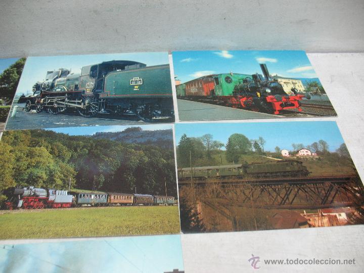 Postales: Lote de 35 postales ferroviarias de locomotoras vagones tranvías - Foto 13 - 45273649
