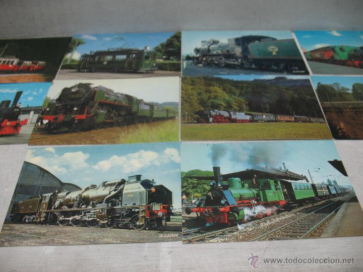 Postales: Lote de 35 postales ferroviarias de locomotoras vagones tranvías - Foto 14 - 45273649