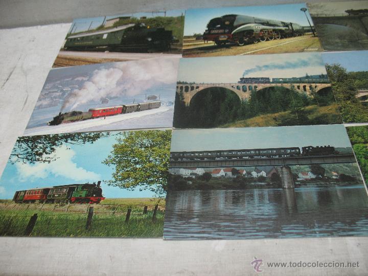 Postales: Lote de 35 postales ferroviarias de locomotoras vagones tranvías metros vías señales - Foto 3 - 45274457