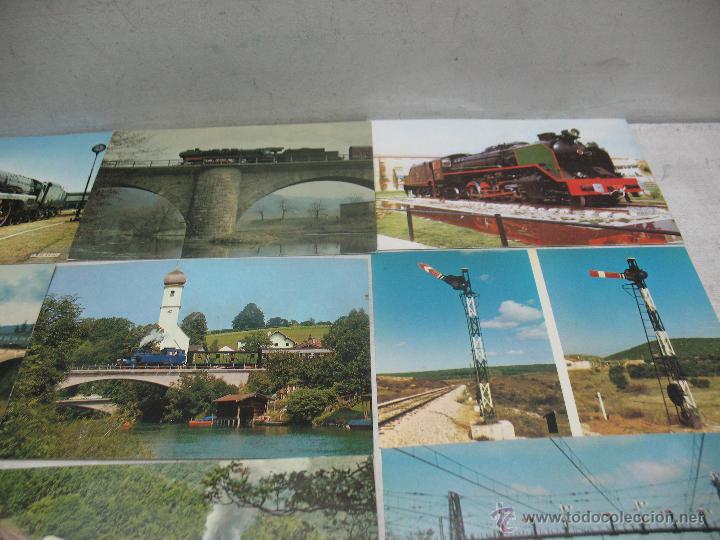 Postales: Lote de 35 postales ferroviarias de locomotoras vagones tranvías metros vías señales - Foto 4 - 45274457